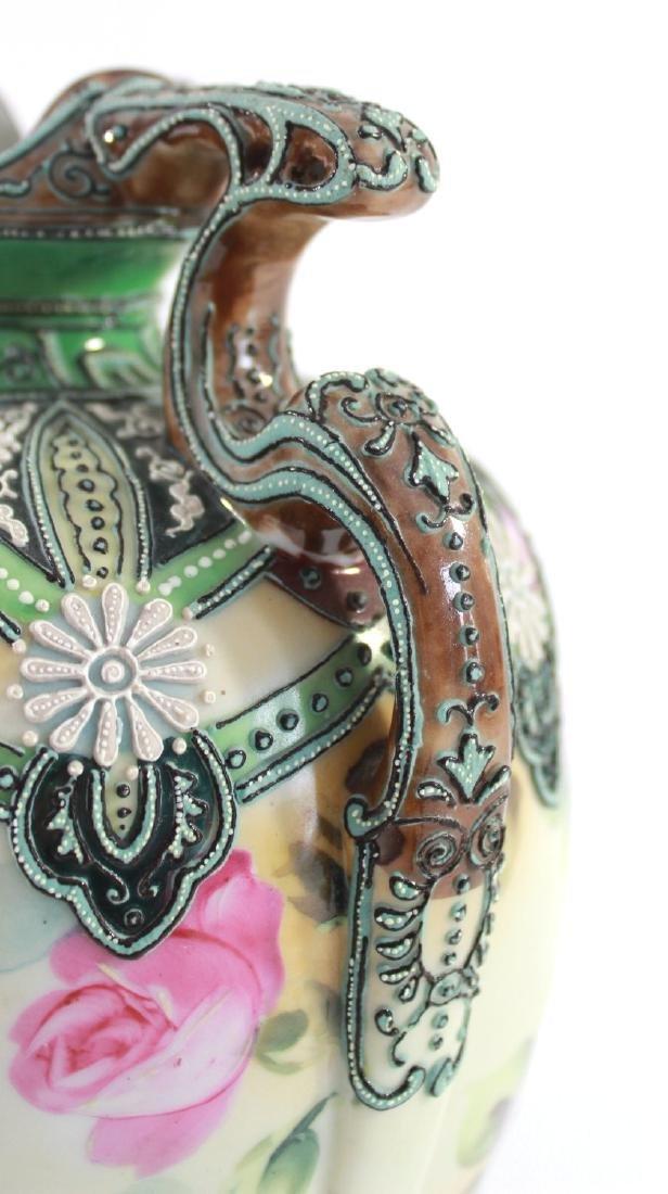 Nippon Moriage Floral Vase - 4