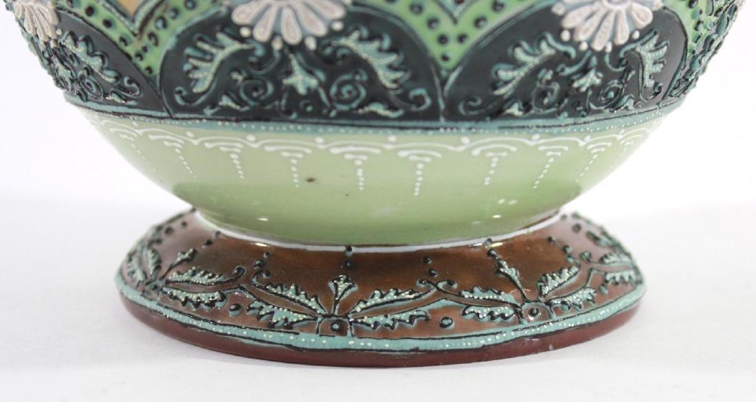 Nippon Moriage Floral Vase - 5