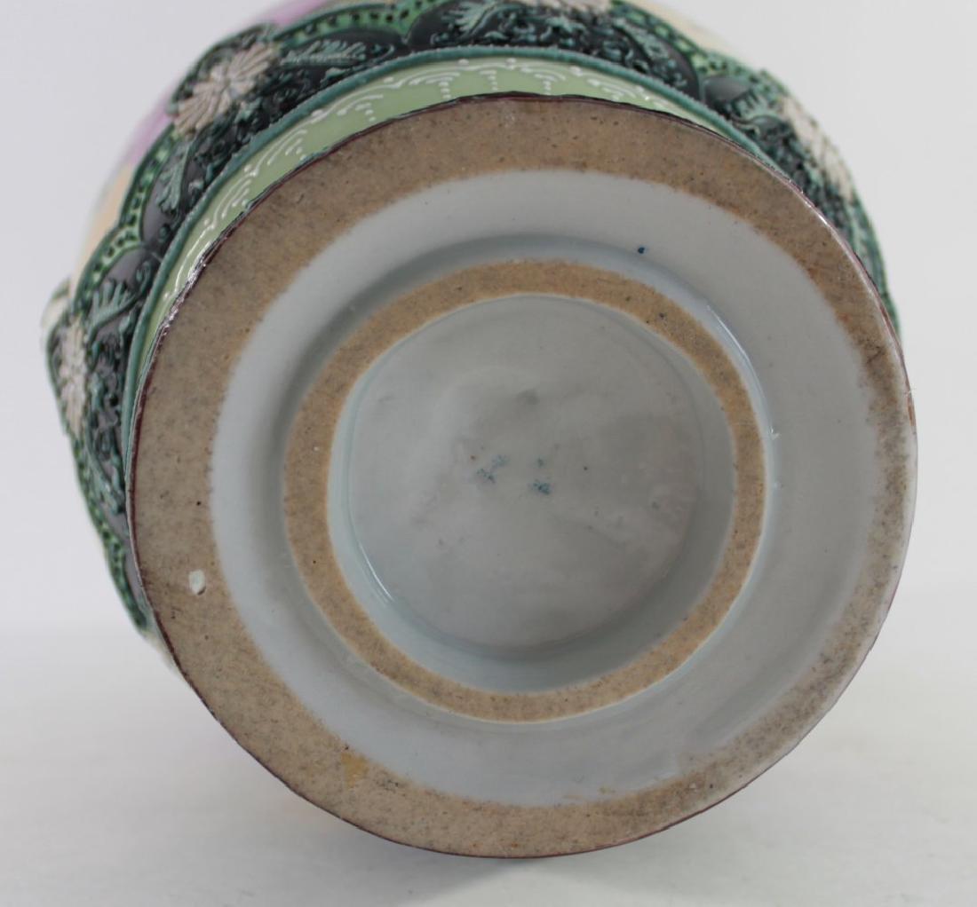 Nippon Moriage Floral Vase - 6