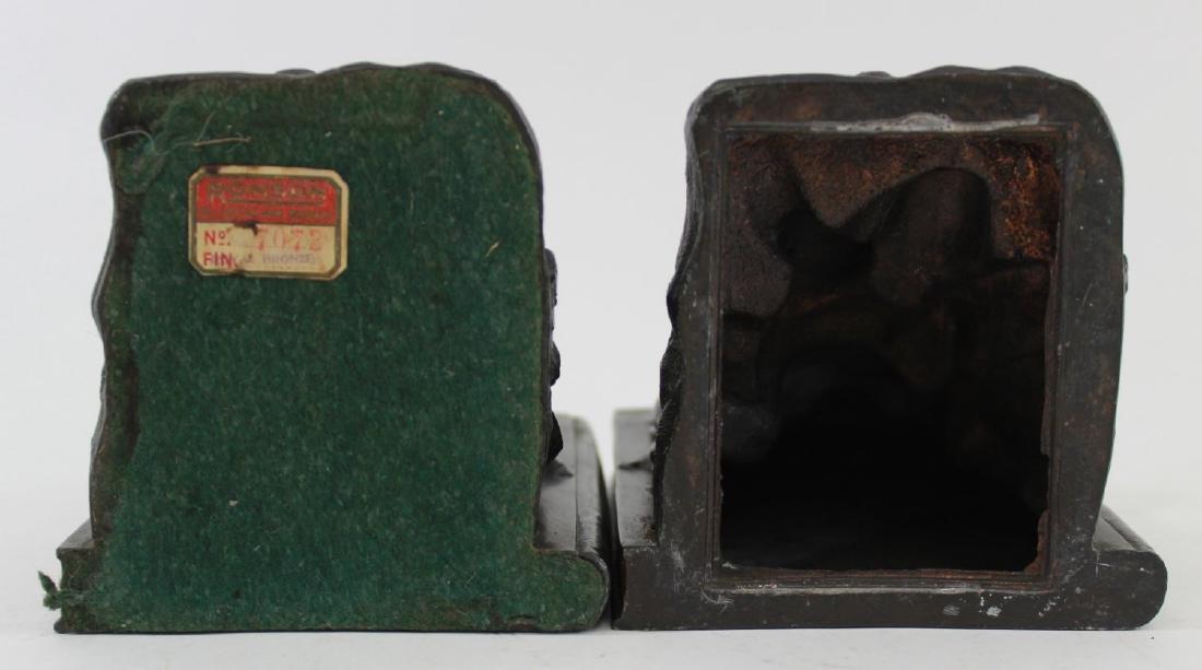 Pair Vintage Ronson Cherub Bookends - 7