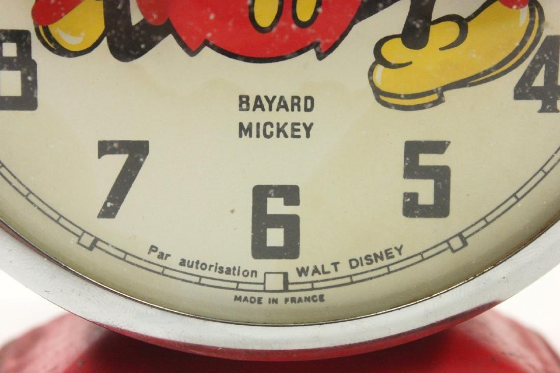 1960s Bayard Mickey Mouse Disney Alarm Clock - 3