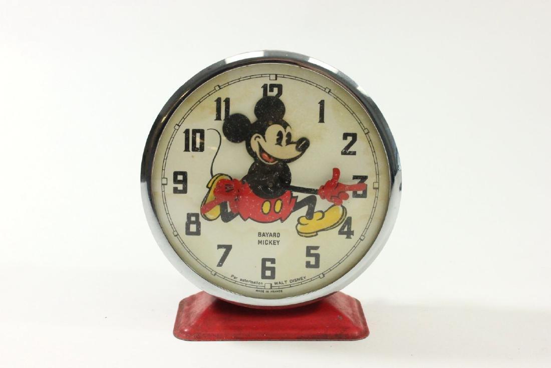 1960s Bayard Mickey Mouse Disney Alarm Clock - 5