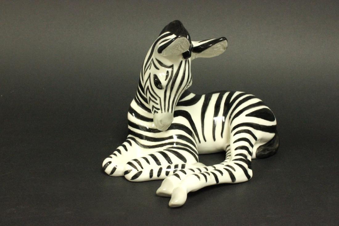 Russian Porcelain Zebra