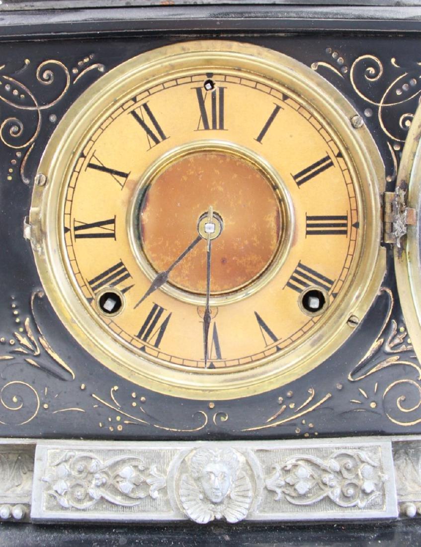 Ansonia Metal Figural Mantel Clock - 2