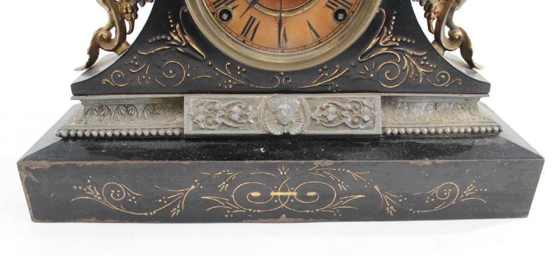 Ansonia Metal Figural Mantel Clock - 3