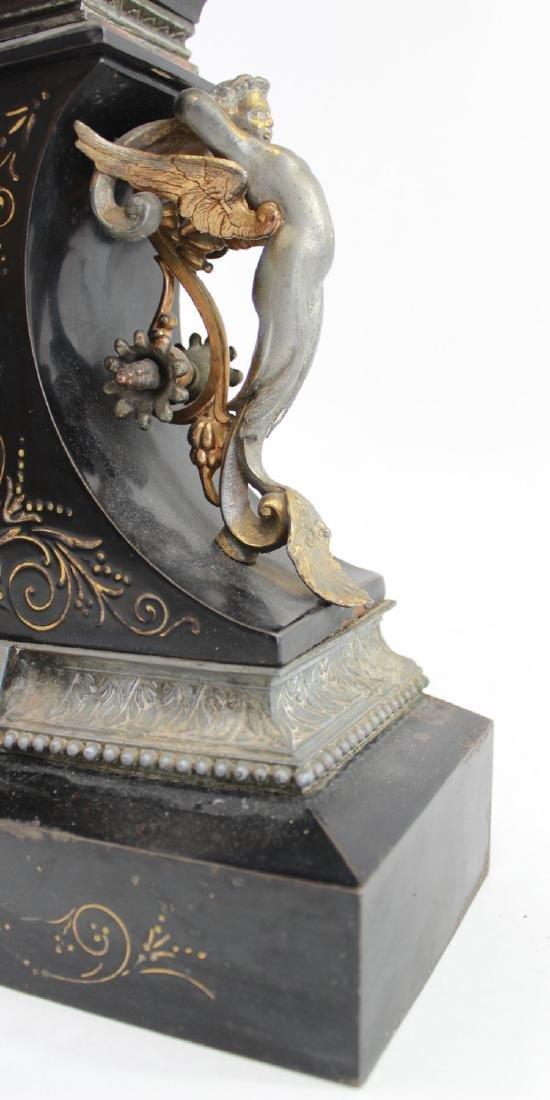 Ansonia Metal Figural Mantel Clock - 4