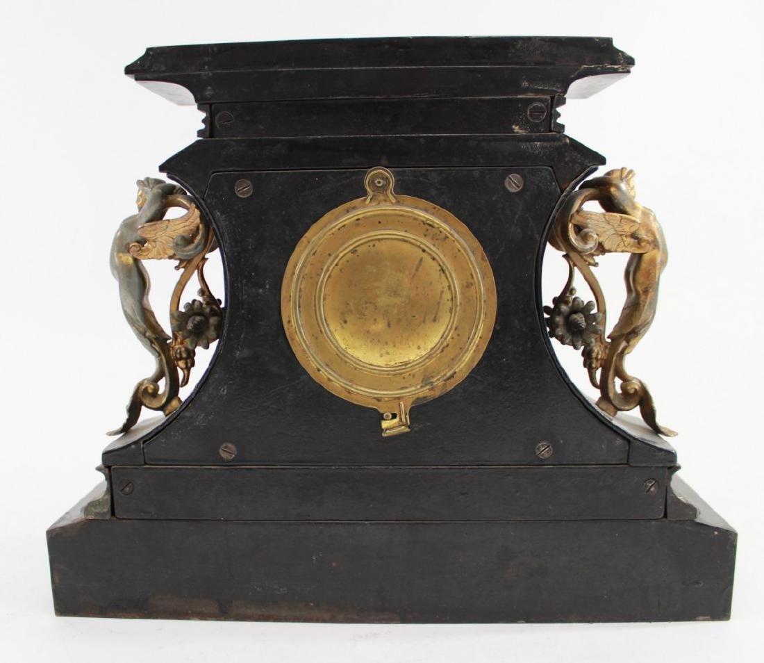 Ansonia Metal Figural Mantel Clock - 5