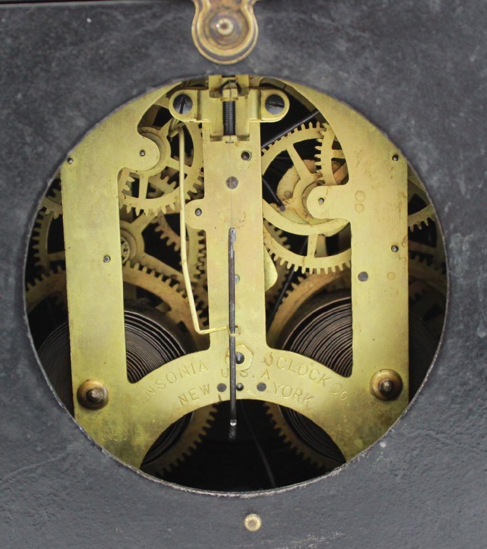 Ansonia Metal Figural Mantel Clock - 6