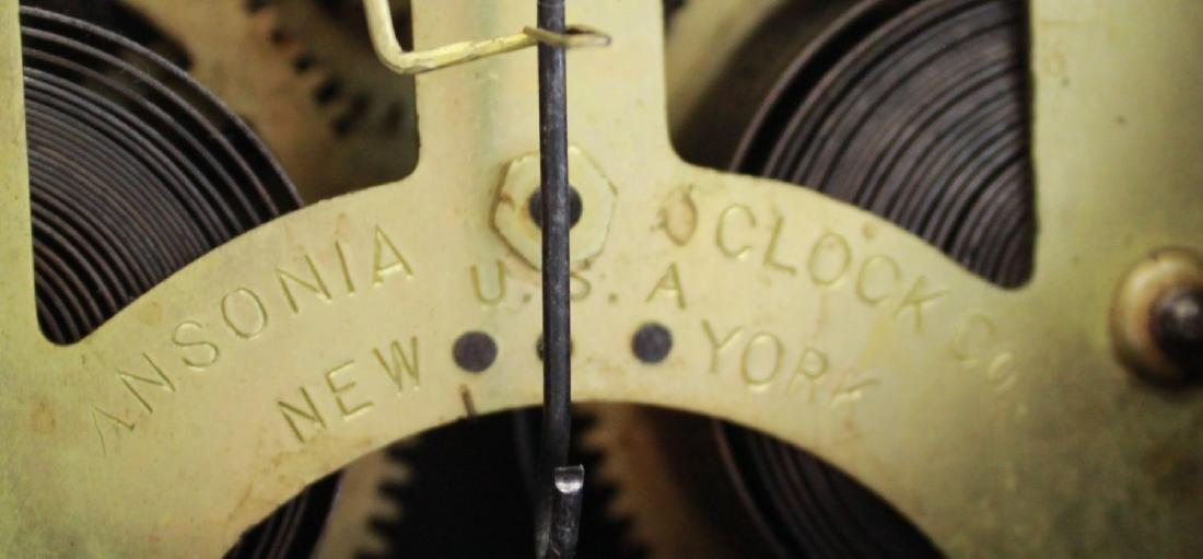Ansonia Metal Figural Mantel Clock - 7