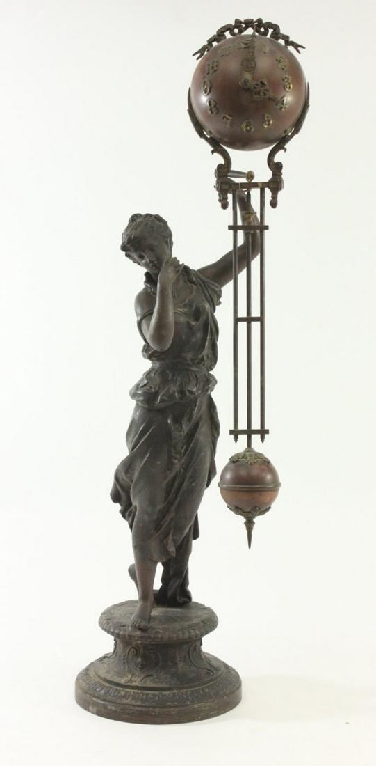 19th Century Ansonia Juno Spelter Swing Clock