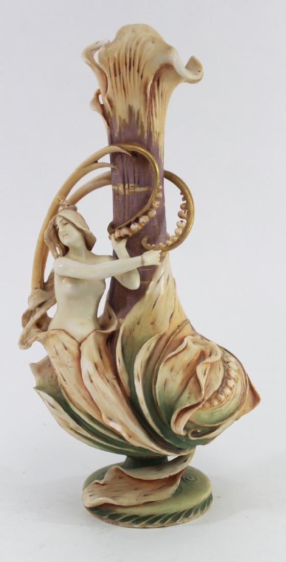 Teplitz Figural Pottery Vase