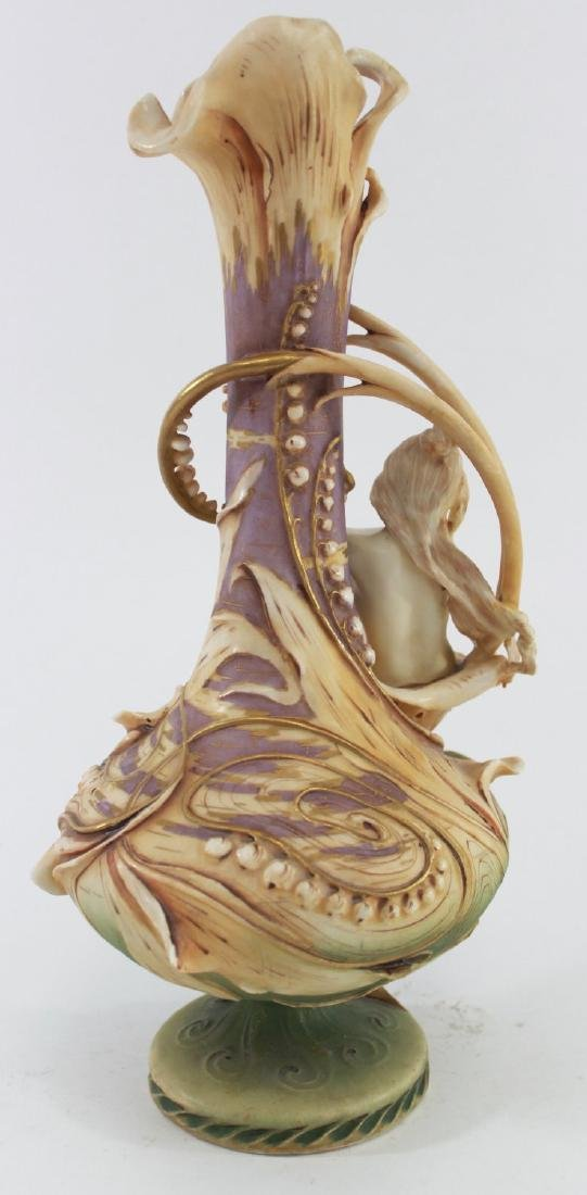 Teplitz Figural Pottery Vase - 2