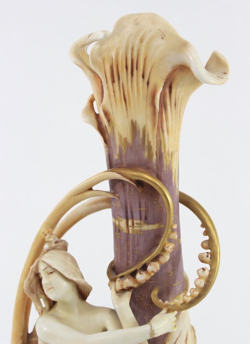 Teplitz Figural Pottery Vase - 4