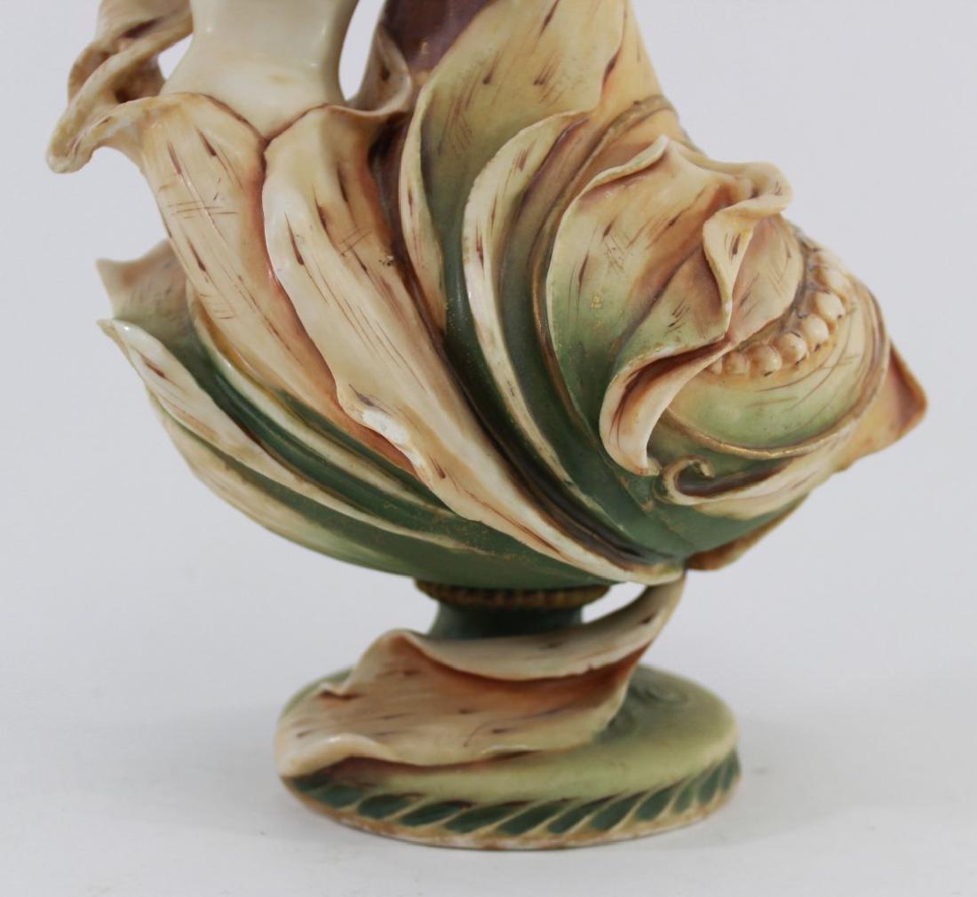 Teplitz Figural Pottery Vase - 5