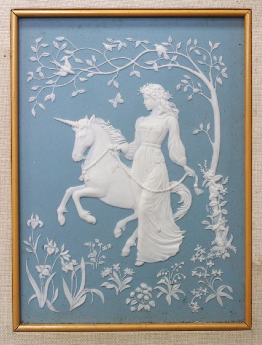 Pair Wedgwood Style Jasperware Decorative Plaques - 2