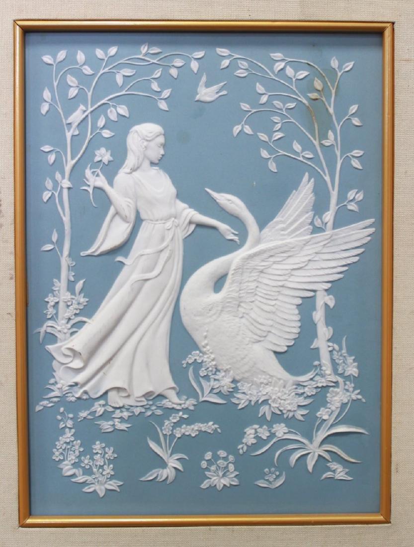 Pair Wedgwood Style Jasperware Decorative Plaques - 3