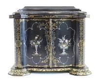 19th Century Papier Mache & Lacquered Jewelry Box