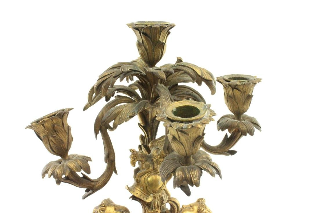 French Gilt Bronze Louis XV Style Candelabrum - 2