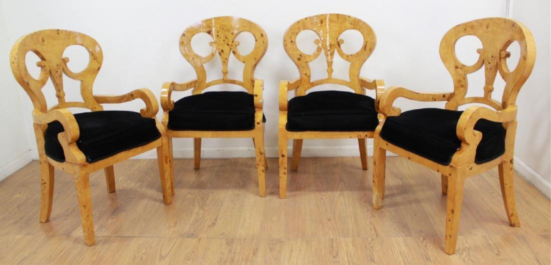 Set 4 Beidermeier Style Armchairs