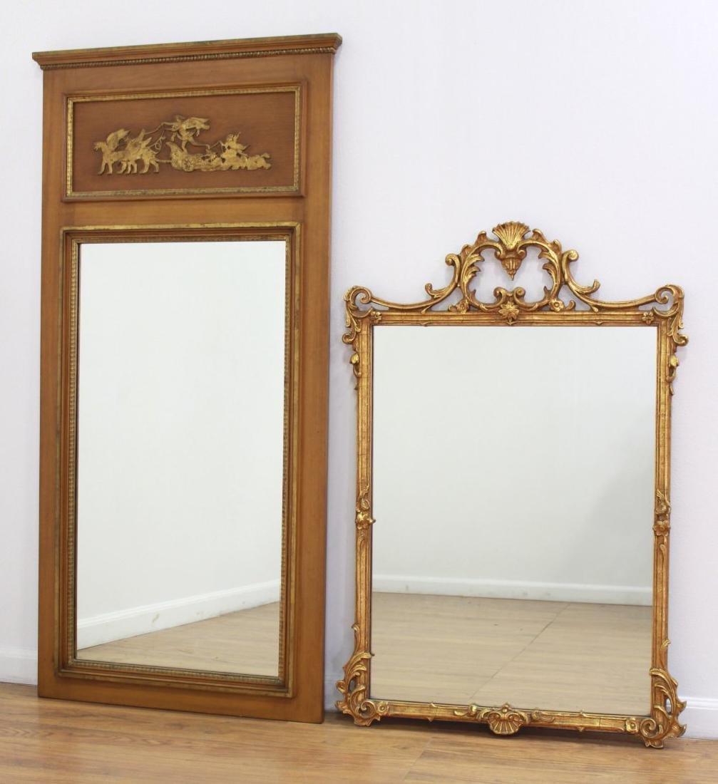 Rectangular Trumeau Mirror & French Style Mirror