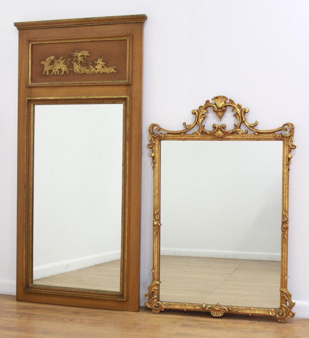 Rectangular Trumeau Mirror & French Style Mirror