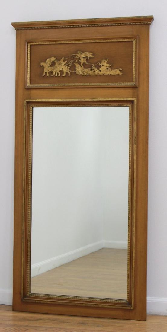 Rectangular Trumeau Mirror & French Style Mirror - 2