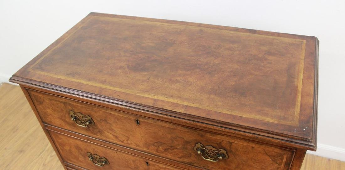 19th Century English Banded Walnut 3-Drawer Chest - 2