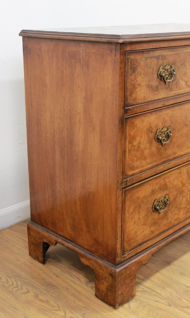 19th Century English Banded Walnut 3-Drawer Chest - 4