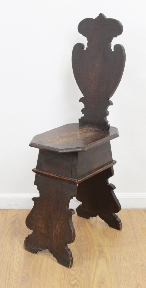 Pair Antique Renaissance Style Diminutive Chairs - 2
