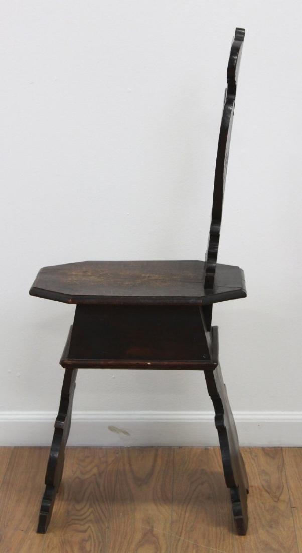 Pair Antique Renaissance Style Diminutive Chairs - 5
