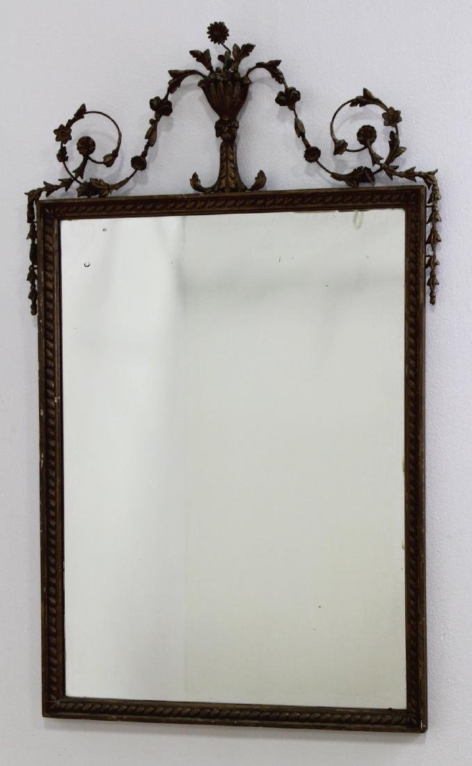 Adams Style Wood & Gesso Gilded Carved Mirror