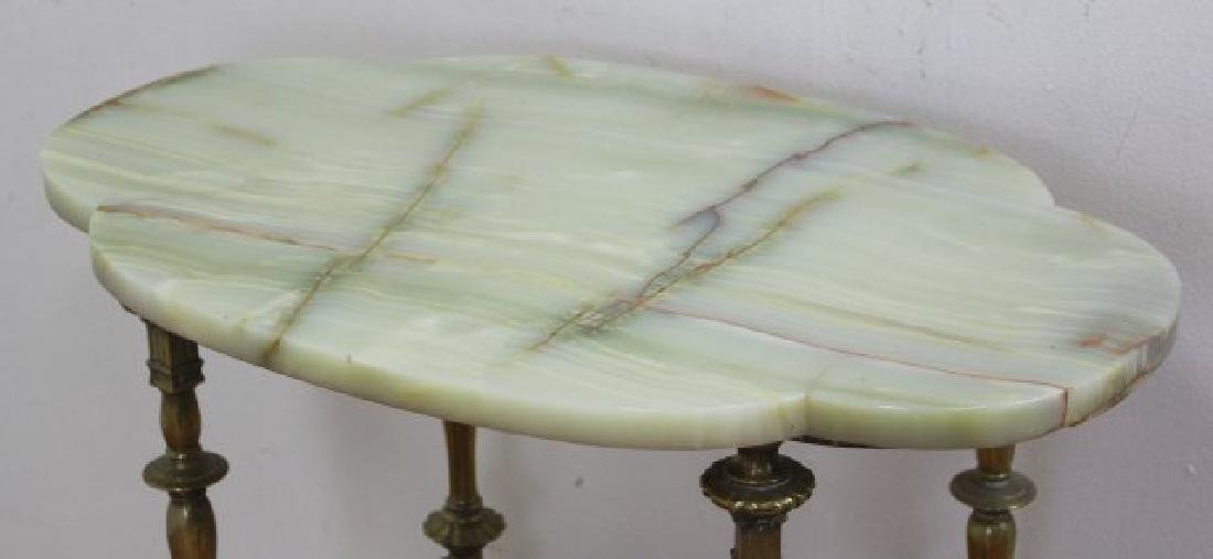 :Victorian Onyx & Bronze Table - 2