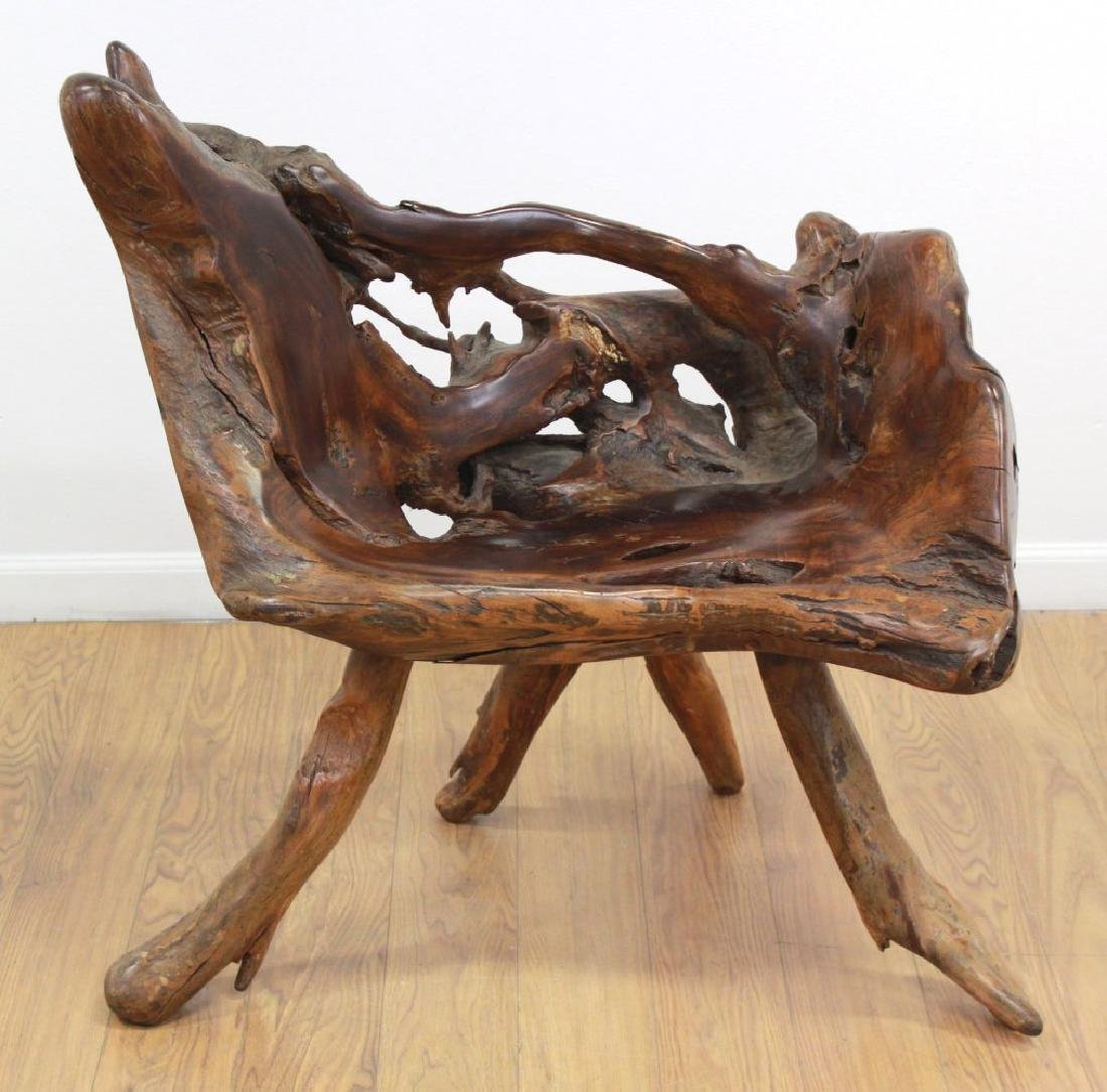 Root Tree Carved Chair