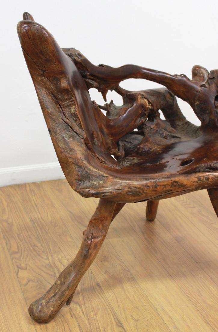 Root Tree Carved Chair - 4