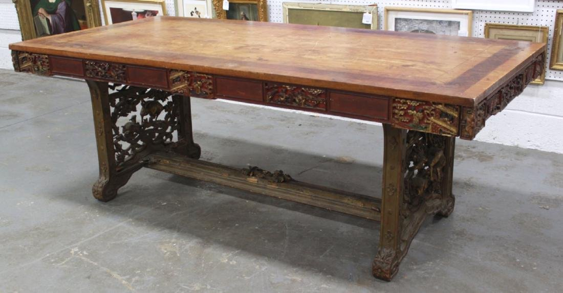 :Carved Asian Conference Table