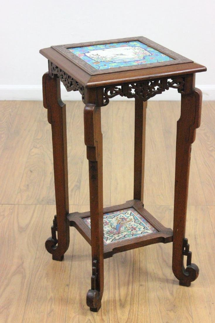Longwy Victorian Pedestal in the Asian Manner