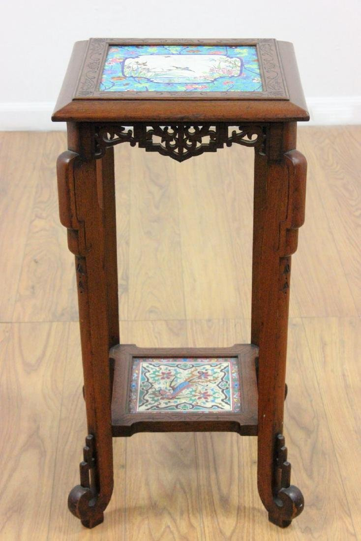 Longwy Victorian Pedestal in the Asian Manner - 5