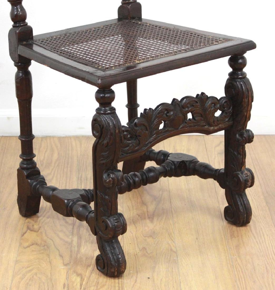 Pair Renaissance Style Highback Chairs - 3