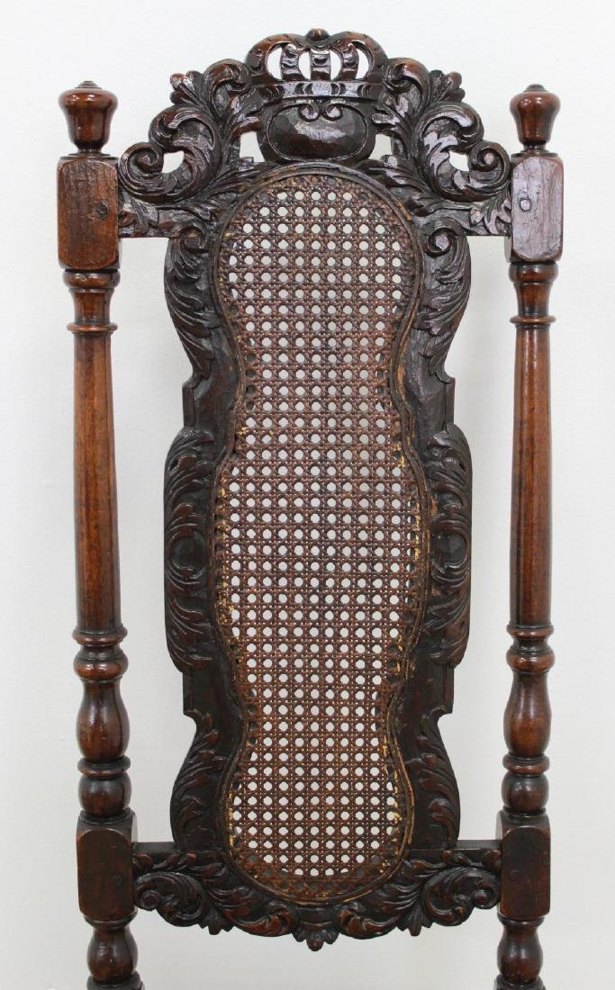 Pair Renaissance Style Highback Chairs - 5