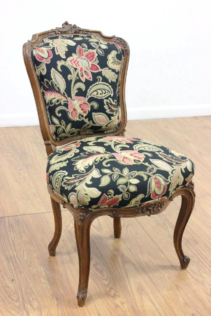Pair French Louis XV Style Side Chairs - 2