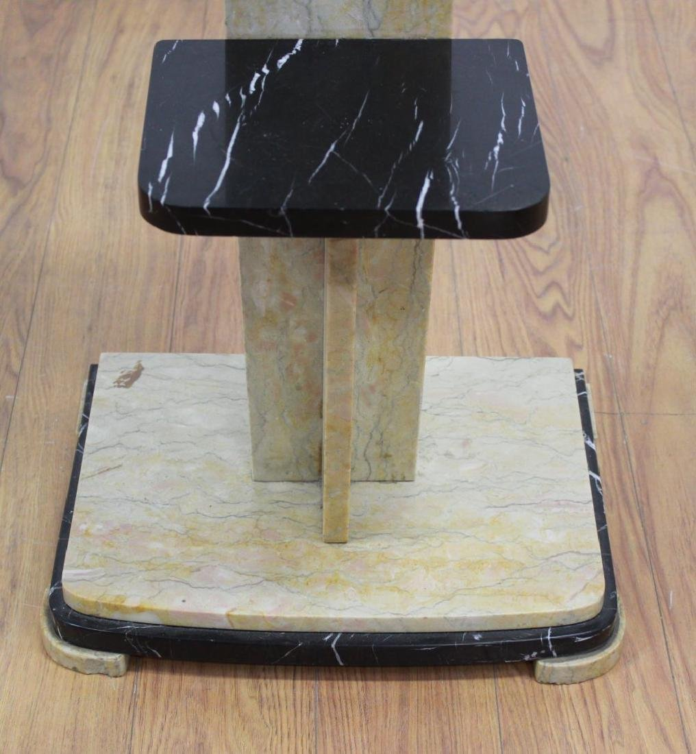 2-Tier 2-Color Marble Pedestal - 3