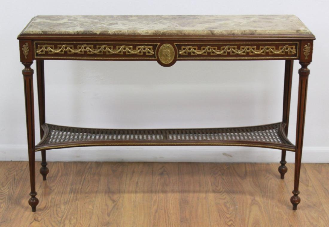 Marble Top Console Table - 2