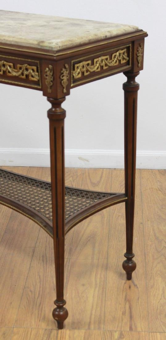 Marble Top Console Table - 3