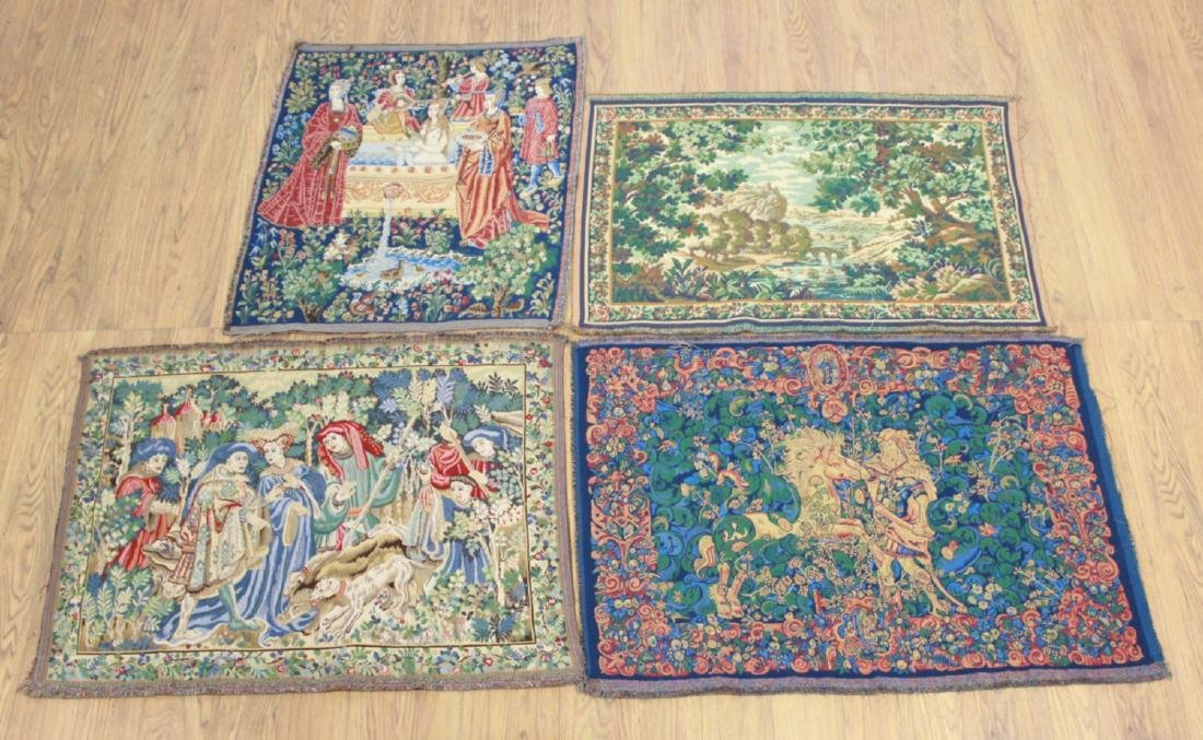4 French Tapestries After the Antique