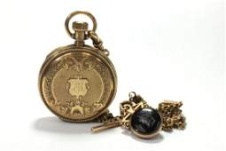 14K Yellow Gold Antique Elgin Pocket Watch