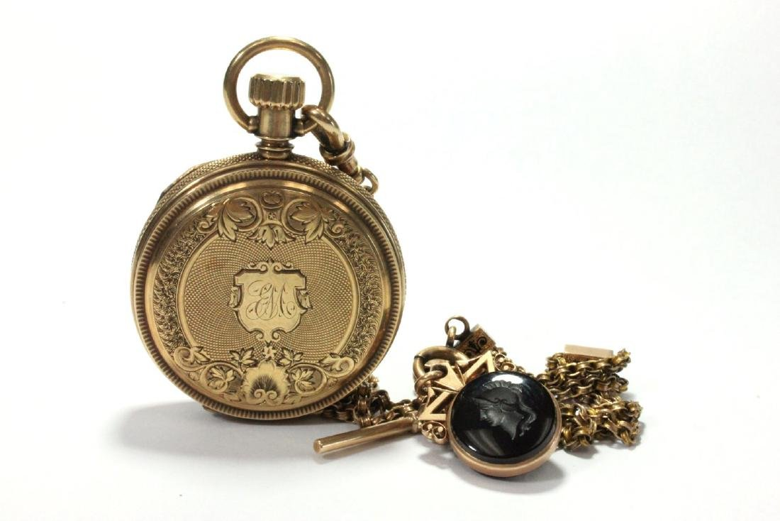 14K Yellow Gold Antique Elgin Pocket Watch