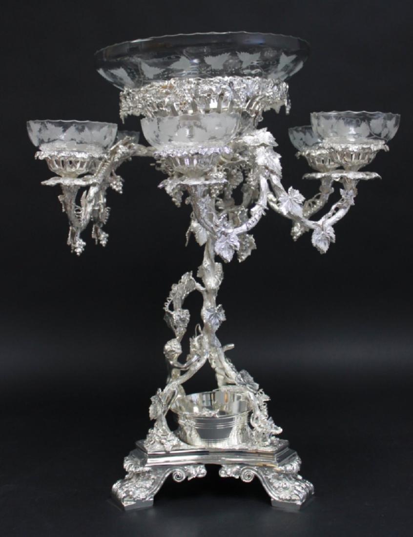 Silverplate Wine Design Centerpiece