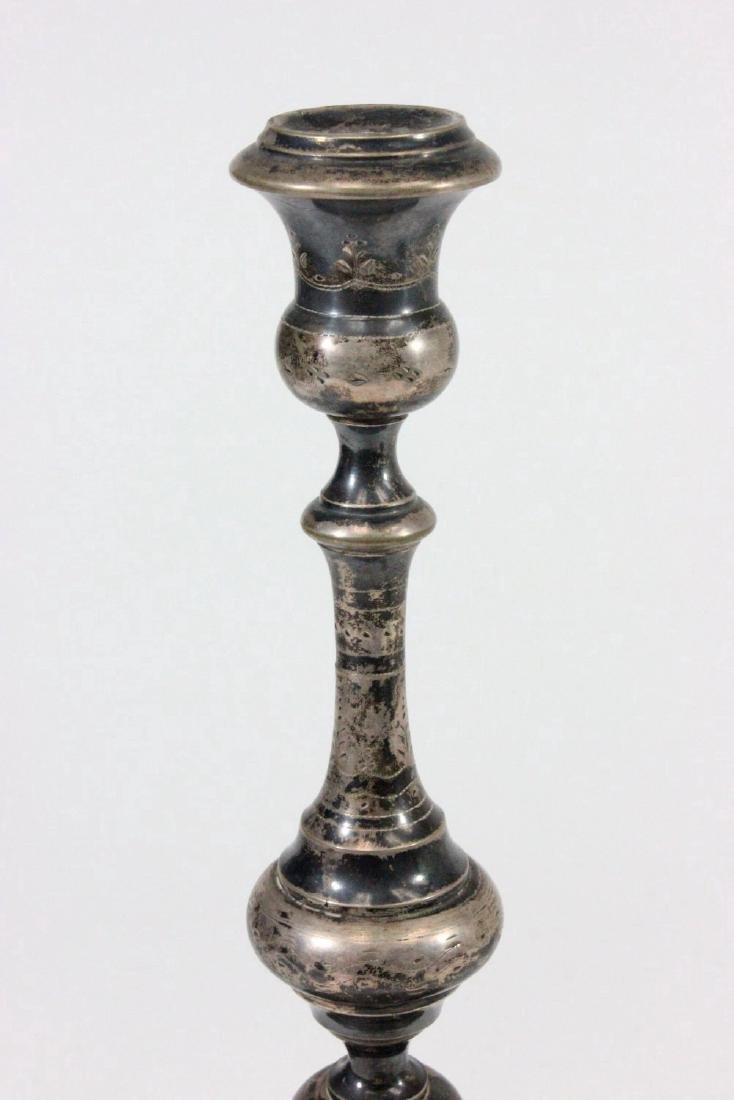 Pair Austrian Silver Candlesticks - 3