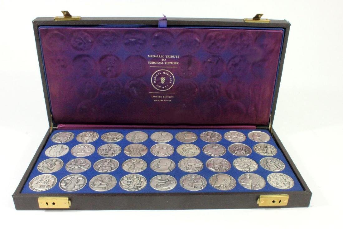 Set of 36 Surgical History 0.999 Silver Medallions