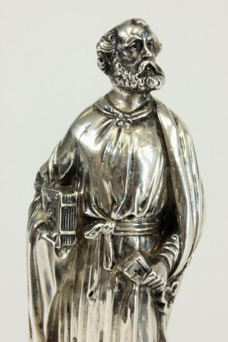 Silver Figure of Saint Peter Holding Key & Book - 2
